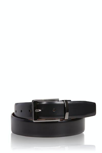 Swissgear Reversible Dressy High Polish Belt - Black/Brown