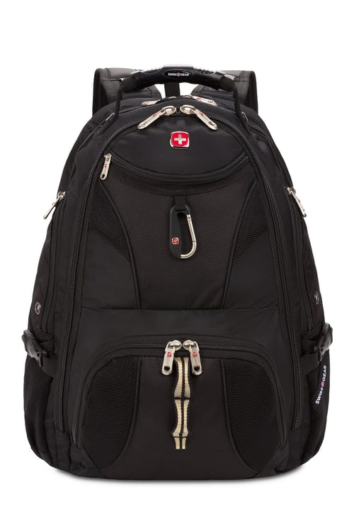 hot sale online f2aa0 682e3 Swissgear 1900 ScanSmart Laptop Backpack Quick-access front zippered pocket