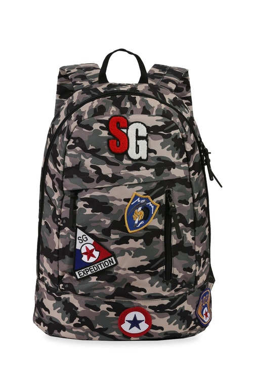 Swissgear 5319 Tablet Backpack with Patches Swissgear 2728 Tablet Backpack with Patches - Green Camo