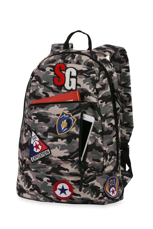 Swissgear 5319 Tablet Backpack with Patches Organizational storage pockets