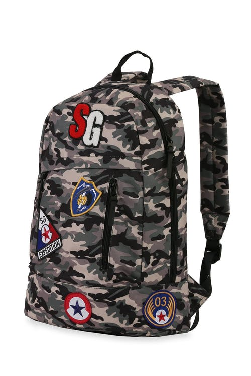 Swissgear 5319 Laptop Backpack with Patches Top grab handle