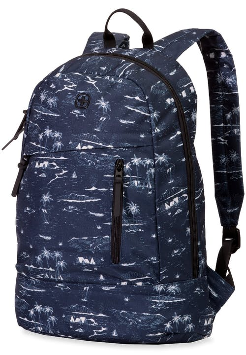 SWISSGEAR 5319 Laptop Backpack - Palm Tree(Navy)/Black