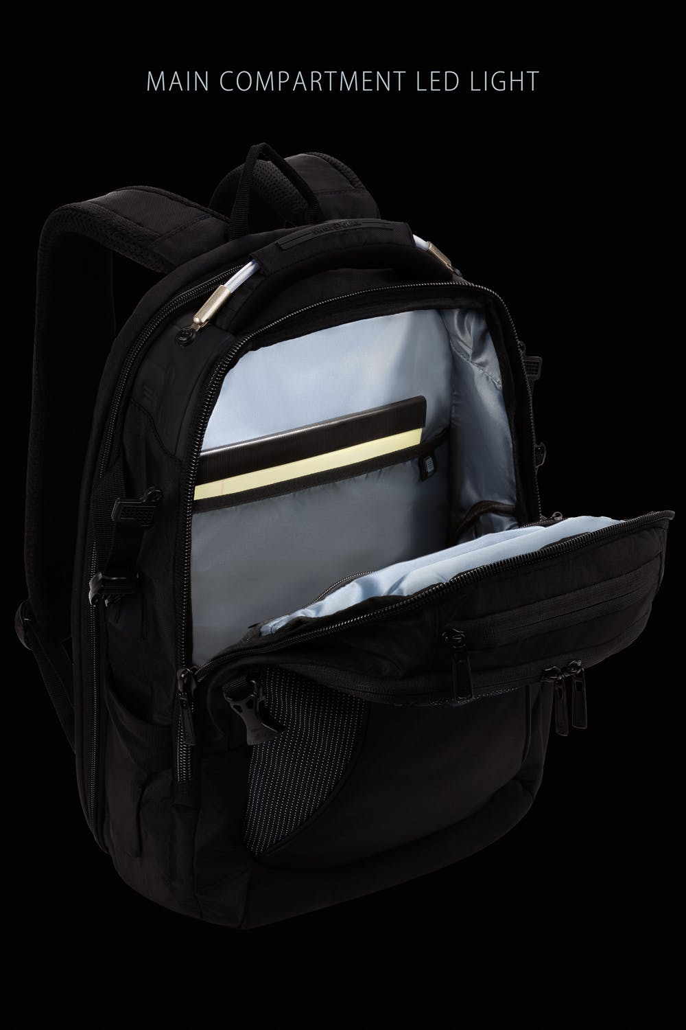 Swissgear 2700 USB ScanSmart Laptop Backpack with LED Light - Black with White Dots
