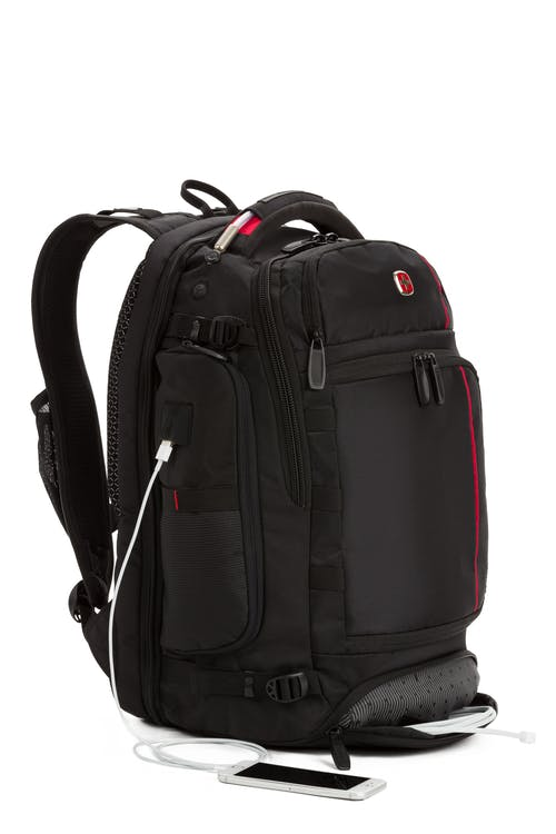 Swissgear 2909 ScanSmart Laptop Backpack with LED Light Integrated USB port and cord