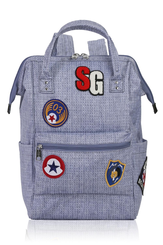 Swissgear 3576 Artz Laptop Backpack with Patches - Light Blue Diamond