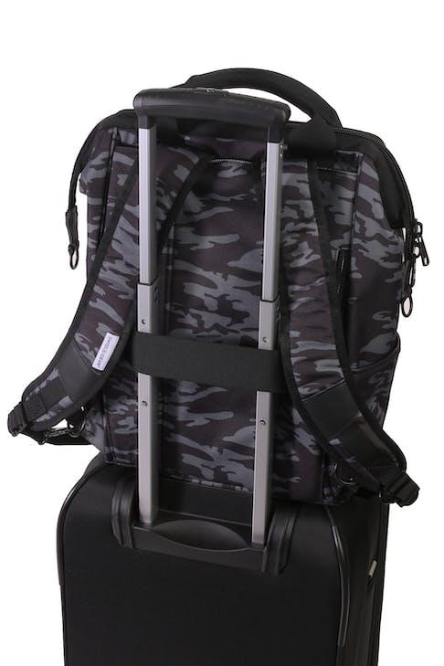 Swissgear 3577 Laptop Backpack - Grey Camo/Black - add a bag strap