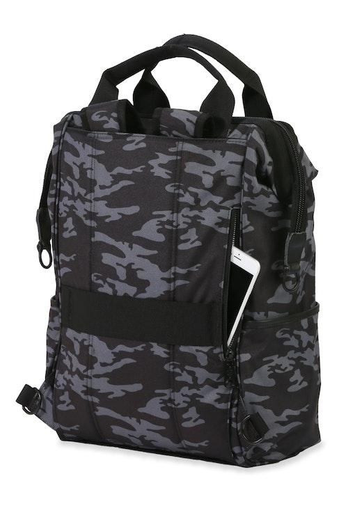 Swissgear 3577 Laptop Backpack - Grey Camo/Black - Tuck away shoulder straps