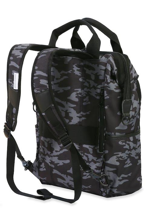 Swissgear 3577 Laptop Backpack - Grey Camo/Black - Contoured, padded shoulder straps