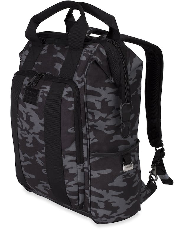 SwissGear 3577 Artz Laptop Backpack - Grey Camo/Black