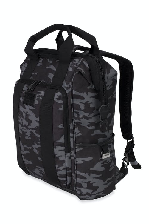 Swissgear 3577 Artz Laptop Backpack - Gray Camo/Black