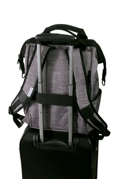 Swissgear 3577 Laptop Backpack - Gray Black - add a bag strap