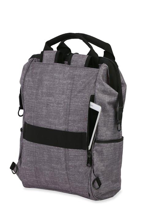 Swissgear 3577 Laptop Backpack - Gray Black - Tuck away shoulder straps