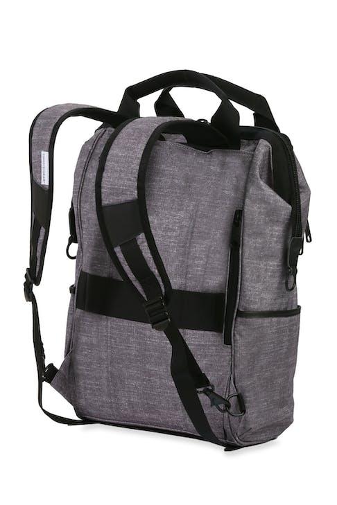 Swissgear 3577 Laptop Backpack - Gray Black - Contoured, padded shoulder straps