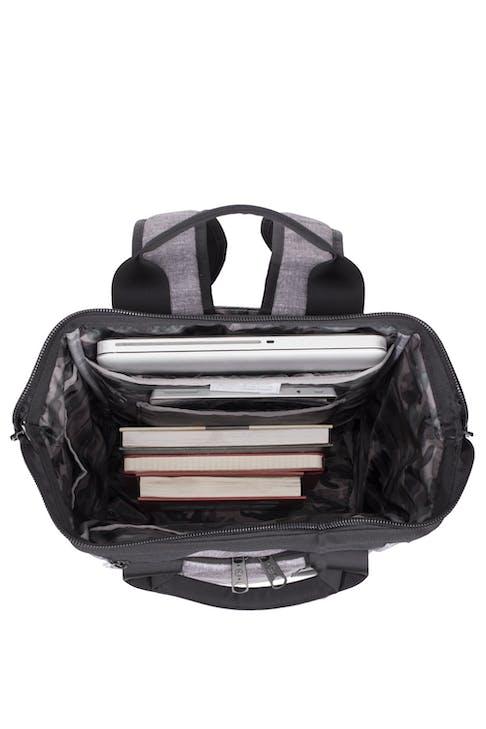 Swissgear 3577 Laptop Backpack - Gray Black - inside View