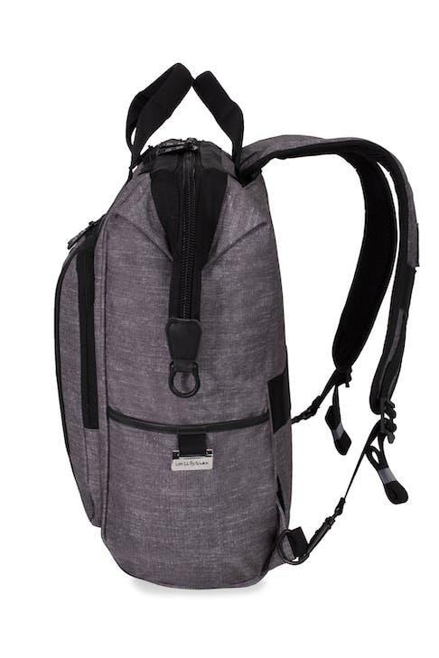 Swissgear 3577 Laptop Backpack - Gray Black - Leather accents