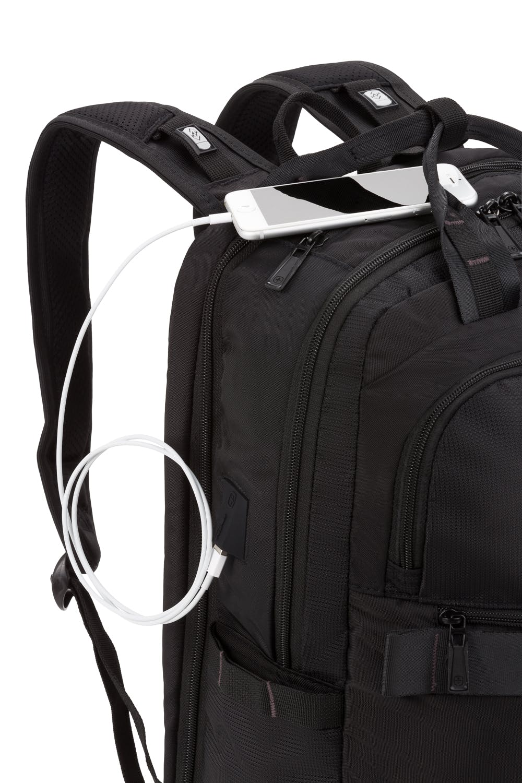 SWISSGEAR 3670 USB Scansmart Laptop Backpack - Black