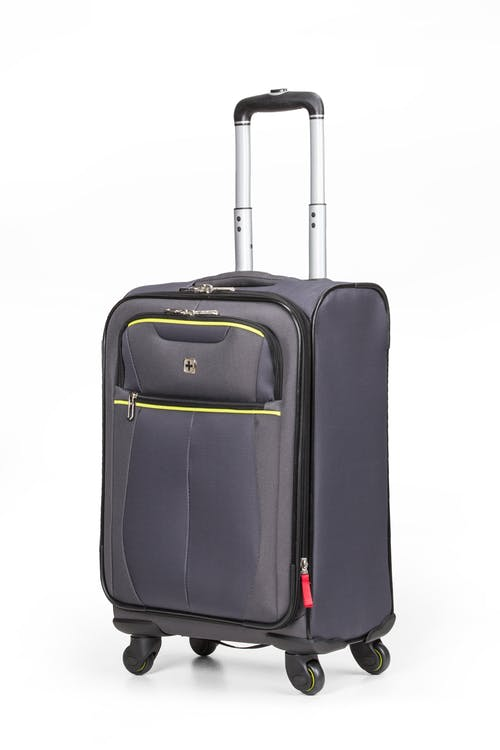 """Swissgear 6262 19"""" Expandable Carry On Spinner Luggage - Gray"""