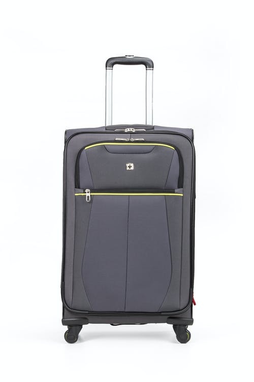 "Swissgear 6262 24"" Softside Expandable Spinner Luggage - Two front pockets"