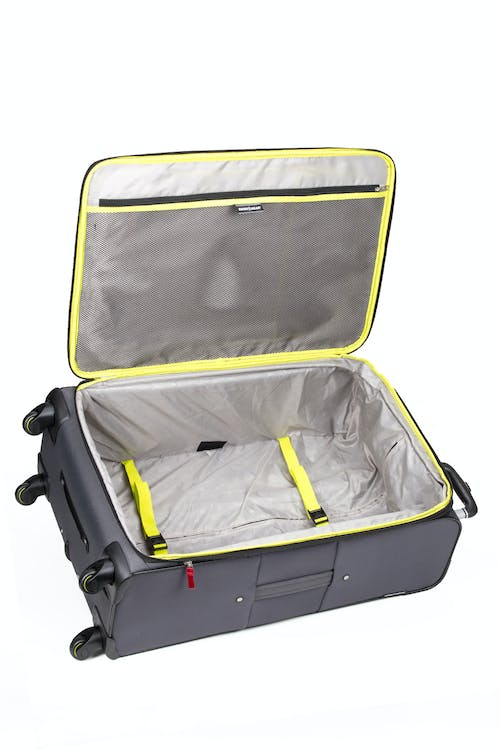 "SWISSGEAR 6262 28"" Softside Expandable Spinner Luggage - Internal large side zippered packing pocket"