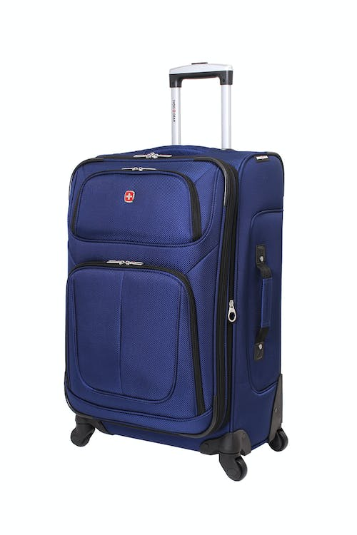 "SWISSGEAR 6283 24.5"" EXPANDABLE SPINNER LUGGAGE IN BLUE"