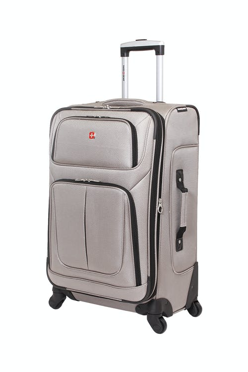 "SWISSGEAR 6283 24.5"" EXPANDABLE SPINNER LUGGAGE IN PEWTER"