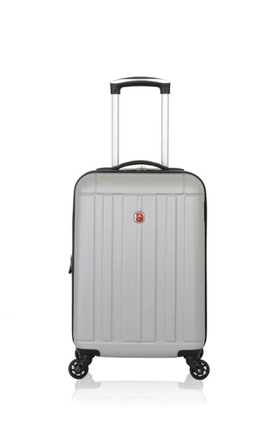 """Swissgear 6297 18"""" Expandable Hardside Spinner Luggage - Silver"""