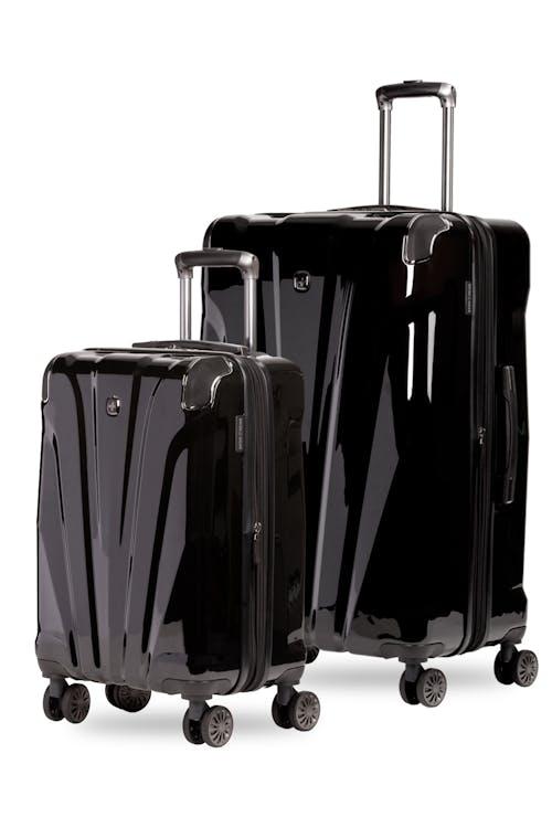 Swissgear 7330 Expandable 2pc Hardside Spinner Luggage Set  - Black