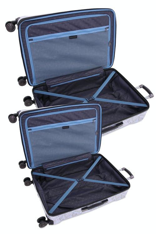 Swissgear 7330 Expandable Hardside Spinner 2PC Set - With elastic tie-down clothing straps