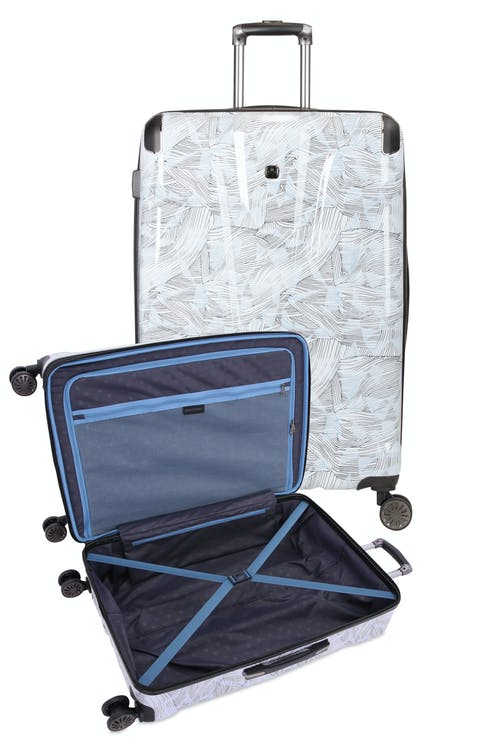 Swissgear 7330 Expandable Hardside Spinner Luggage - Open View