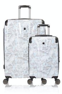 Swissgear 7330 Expandable 2pc Hardside Spinner Luggage Set - Line Print