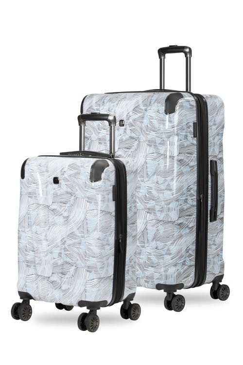 Swissgear 7330 Expandable Hardside Spinner Luggage 2PC Set - Line Print