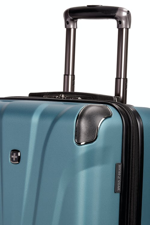 "Swissgear 7330 19"" Expandable Hardside Spinner Luggage Aluminum, push-button locking telescopic handle"