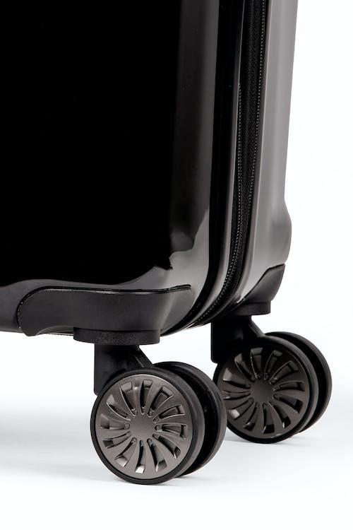 Swissgear 7330 Expandable Hardside Spinner Eight 360-degree, multi-directional spinner wheels