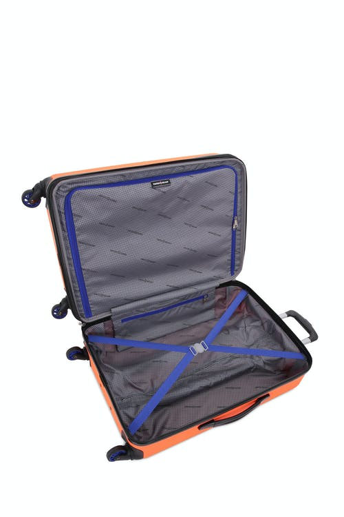 "Swissgear 7366 18"" Expandable Hardside Luggage open view"