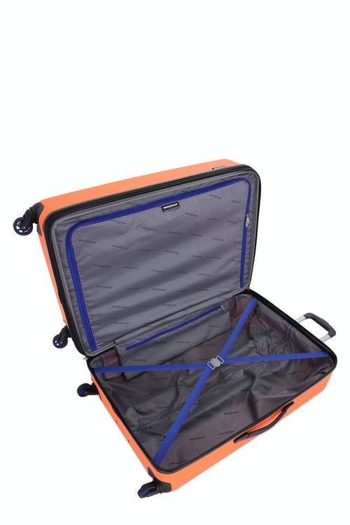 "Swissgear 7366 23"" Expandable Hardside Luggage open view"
