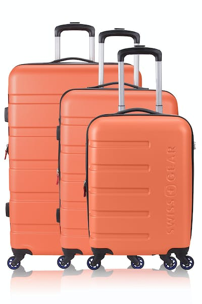 Swissgear 7366 Expandable Hardside Luggage 3PC Set - Orange/Blue