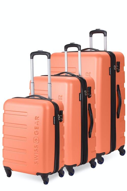 Swissgear 7366 Expandable Hardside Luggage 3PC Set - Orange/Blue