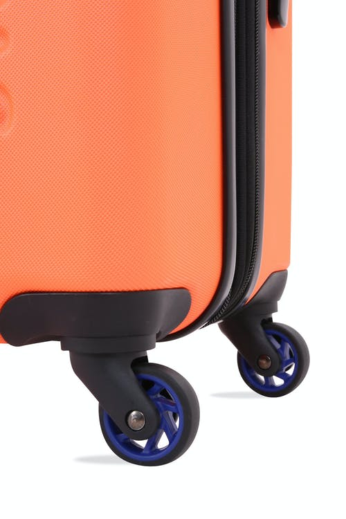 "SWISSGEAR 7366 18"" Expandable Hardside Luggage Four 360-degree, multi-directional spinner wheels"