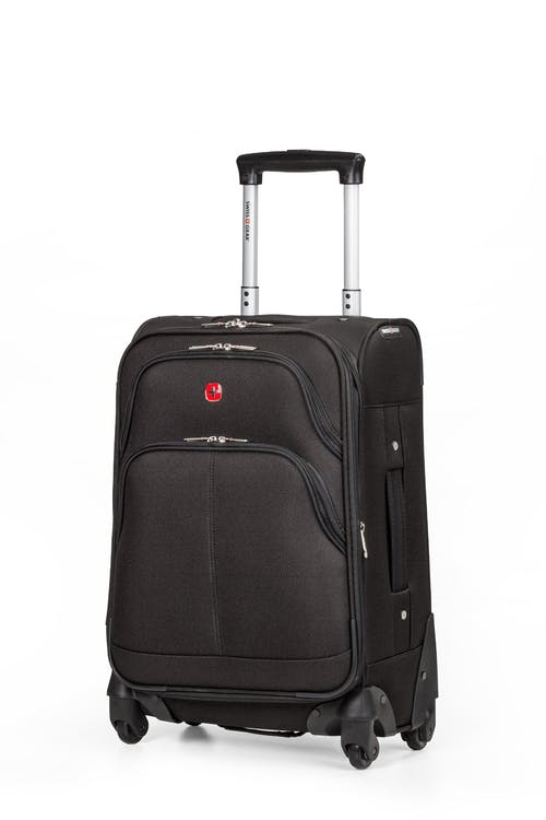 "Swissgear 7377 20"" Expandable Carry-On Spinner Luggage - Black"