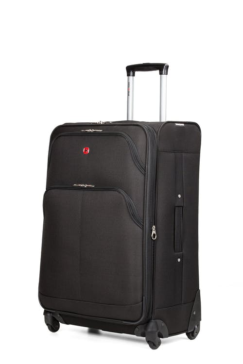 "SWISSGEAR 7377 24"" EXPANDABLE SPINNER LUGGAGE - BLACK"