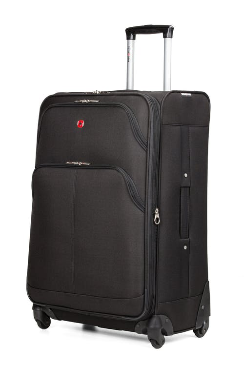 "SWISSGEAR 7377 28"" EXPANDABLE SPINNER LUGGAGE - BLACK"