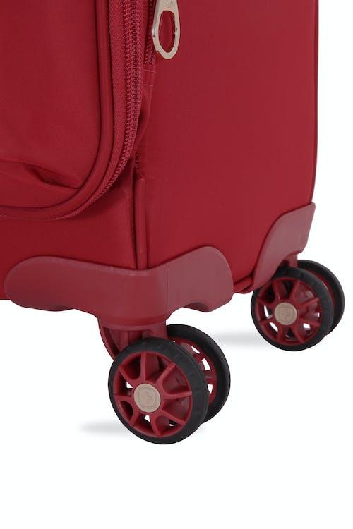 "SWISSGEAR 7636 Geneva 20"" Expandable Liteweight Luggage Eight 360 degree, multi-directional spinner wheels"