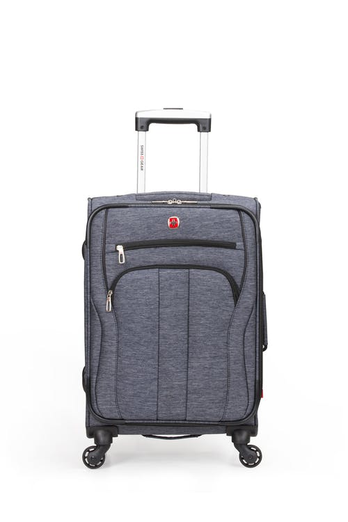"SWISSGEAR 7732 19"" Softside Expandable Spinner Luggage Two front pockets"