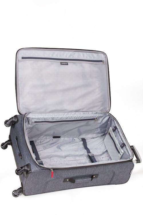 "SWISSGEAR 7732 29"" Softside Expandable Spinner Luggage Adjustable tie-down clothing straps"