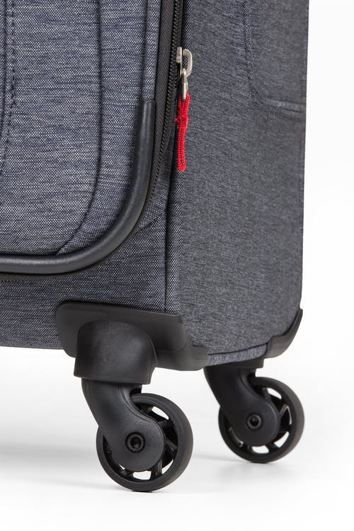 "SWISSGEAR 7732 29"" Softside Expandable Spinner Luggage Four 360-degree, multi-directional spinner wheels"