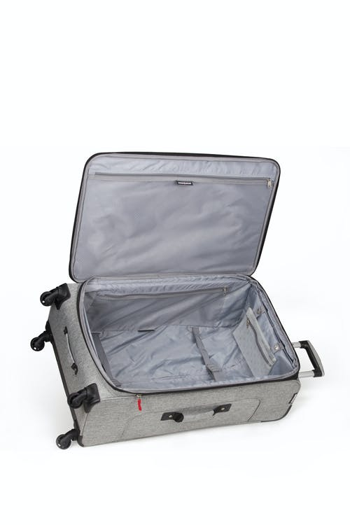 "SWISSGEAR 7732 25"" Softside Expandable Spinner Luggage - Adjustable tie-down clothing straps"