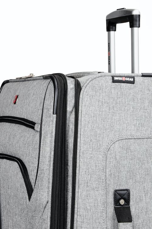 """SWISSGEAR 7732 25"""" Softside Expandable Spinner Luggage - Durable reinforced lay flat top, bottom and side grab handles"""