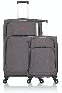 Swissgear 7738 Expandable Spinner Luggage 2PC Set  - Gray Black
