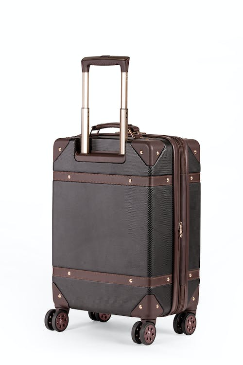 "Swissgear 7739 19"" Trunk Expandable Spinner Luggage Matching rose gold zippers, wheels and lift handle"