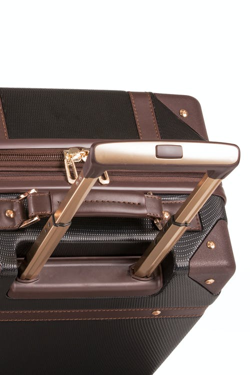 "Swissgear 7739 19"" Trunk Expandable Spinner Luggage Aluminum push-button locking telescopic handle"